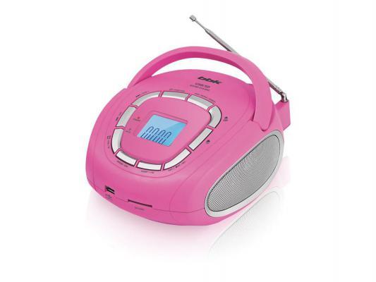 Магнитола BBK BS05 серебристо-розовый