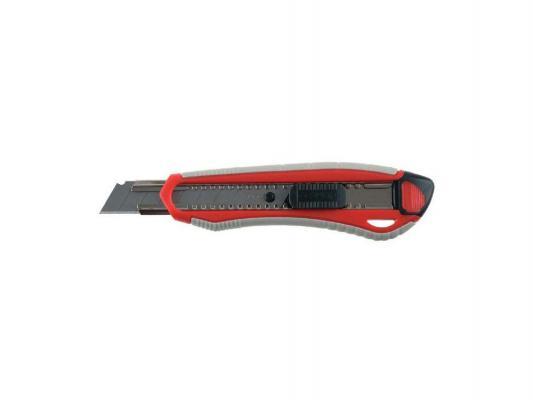 Нож ЗУБР Мастер с сегментированным лезвием двухкомпонентный корпус автофиксатор сталь У8А 18мм 09157 нож зубр 09172 мастер