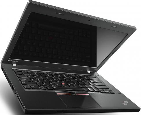 "Ноутбук Lenovo ThinkPad L450 14.0"" 1920x1080 матовый i7-5500U 2.4GHz 8Gb 1Tb HD5500 Bluetooth Wi-Fi Win7Pro Win8.1Pro черный 20DT0019RT от 123.ru"