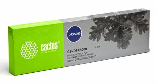 Картридж ленточный CACTUS CS-DFX5000 для Epson DFX5000/8000/8500 черный картридж cactus cs ept1634 для epson wf 2010 2510 2520 2530 2540 2630 2650 2660 желтый