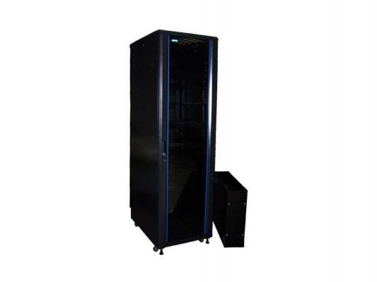 Шкаф напольный 42U Lanmaster TWT-CBB-42U-6X8-00 600x800mm без дверей с боковыми стенками черный