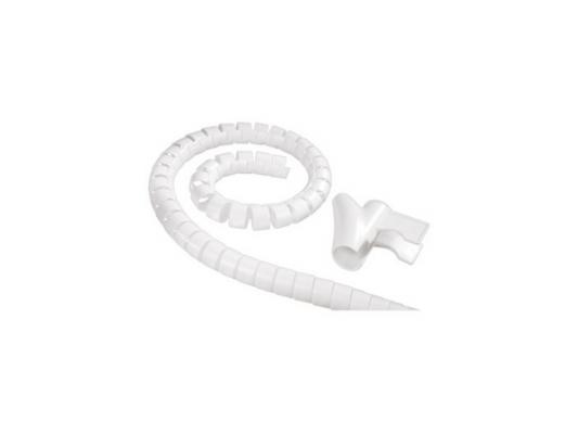 Кабель-органайзер Hama H-83151 30мм пластик белый 1.5м
