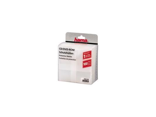 Конверты Hama для CD/DVD полипропилен прозрачный 100шт H-51095