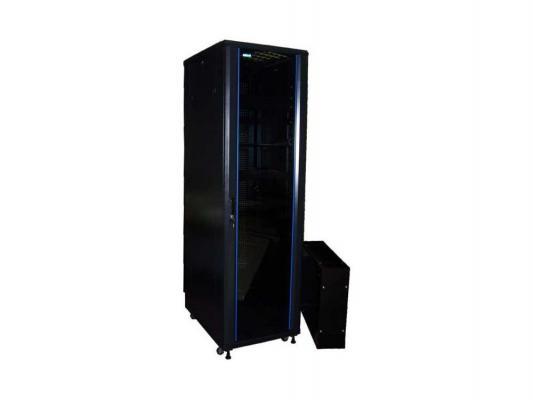 Шкаф напольный 42U Lanmaster TWT-CBB-42U-8X8-00 800x800mm без дверей с боковыми стенками черный
