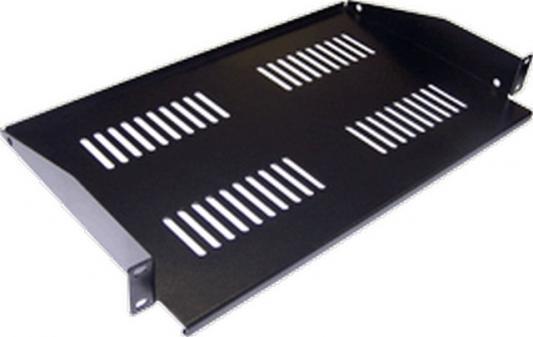 Полка Lanmaster TWT-CB-SF267-1U/18 фронтальная глубина 267мм 1U до 18кг