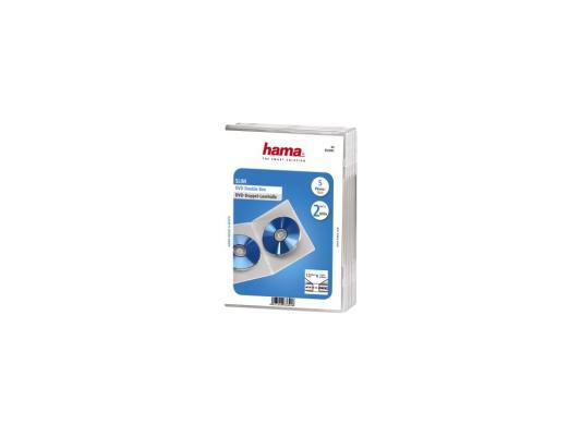 Коробка HAMA для 2 DVD прозрачный 5шт H-83892
