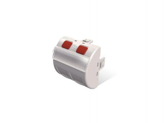 Панель лицевая Brand-Rex MMCANGLGD45002 наклонная 45x45мм со шторкой для 2 модулей RJ-45 белый
