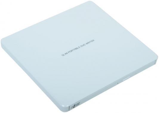 Внешний привод DVD±RW LG GP60NW60 USB 2.0 белый Retail внешний оптический привод lg bp50nb40 bp50nb40