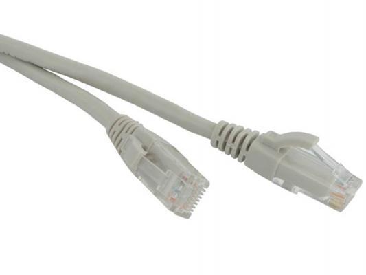 Патч-корд UTP 5E категории LSZH 10м Hyperline PC-LPM-UTP-RJ45-RJ45-C5e-10M-LSZH-GY серый цена и фото
