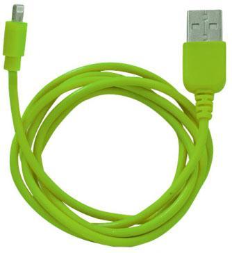 купить Кабель CBR Human Friends Super Link Rainbow L Green USB 1м для iPhone 5 5s 5c iPad 4 5 mini mini2 iPod nano7 iPod touch Lightning зеленый недорого