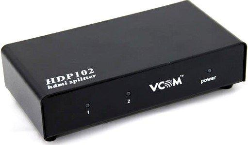 Разветвитель HDMI Spliitter 1=>2 3D Full-HD 1.4v каскадируемый Vcom VDS8040D разветвитель hdmi spliitter 1 2 2 0v 4k 60hz vcom