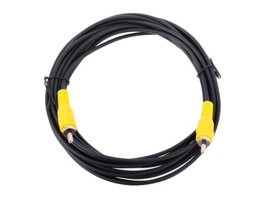 Кабель соединительный 5.0м VCOM Telecom RCA(M)-RCA(M) черный TAV4158-5M