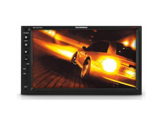 Автомагнитола Soundmax SM-CCR3703G 7 800х480 USB MP3 FM RDS SD MMC 2DIN 4x50Вт пульт ДУ черный podofo car audio 7 2din autoradio stereo touch screen auto radio video mp5 player support bluetooth tf sd mmc usb fm aux camera