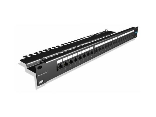 """Патч-панель Brand-Rex GPCPNLU24002 угловая 19"""" 1U для установки 24 RJ45 кат.5e UTP"""