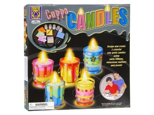 Набор для творчества Creative Дизайнерские свечи Стаканчики от 8 лет 5596 набор для творчества creative creative набор для творчества веселое мыловарение