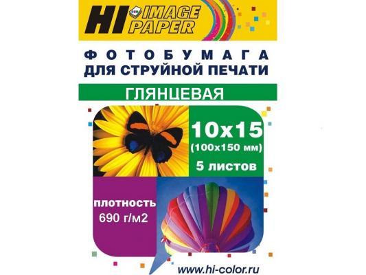 Бумага Hi-Black A20296 10x15 690г/м2 глянцевая 5л