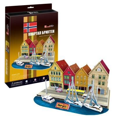 Пазл 3D CubicFun Квартал Брюгген (Норвегия) 44 элемента