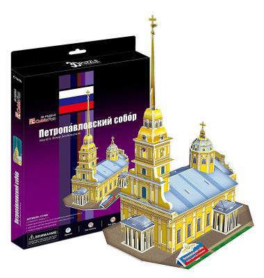 Купить Пазл 3D CubicFun Петропавловский собор (Россия) 37 элементов C140h