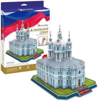 Пазл 3D CubicFun Смольный Собор (Россия) 108 элементов