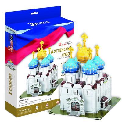 Пазл 3D CubicFun Успенский собор Троице-Сергиева Лавра Россия —