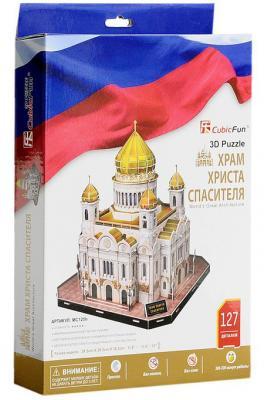 Пазл 3D CubicFun Храм Христа Спасителя (Россия) 127 элементов МС125h