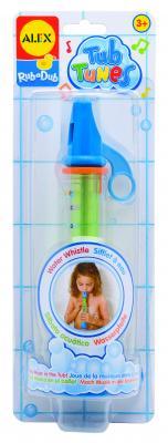 Интерактивная игрушка Alex для ванны Водяная дудочка от 3 лет разноцветный 4008 пластмассовая игрушка для ванны alex полярный медвежонок 11 см 841b