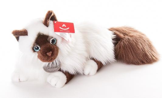 Мягкая игрушка кошка Aurora Кошка сиамская искусственный мех синтепон белый черный 45 см