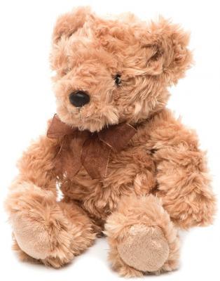 Мягкая игрушка медведь Aurora Медведь светло-коричневый плюш синтепон коричневый 20 см