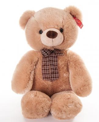 Мягкая игрушка медведь Aurora Медведь медовый плюш бежевый 69 см