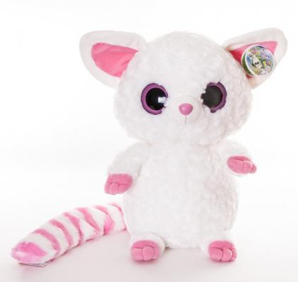 Мягкая игрушка герой мультфильма Aurora Юху и друзья Игрушка мягкая Лисица Фенек плюш синтепон белый розовый 42 см