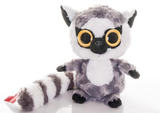 Мягкая игрушка герой мультфильма Aurora Юху Лемур плюш синтепон белый серый 20 см 67-203