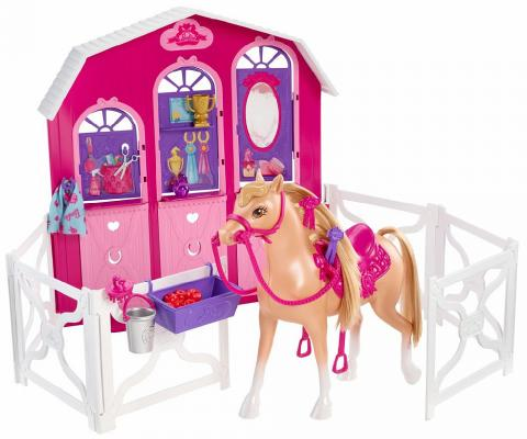 Игровой набор Mattel Barbie и сестры в сказке о пони: Конюшня и лошадь Y7554 от 123.ru