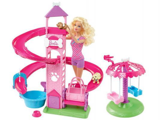 Игровой набор Barbie Прогулка в парке с питомцами Y1172 от 123.ru