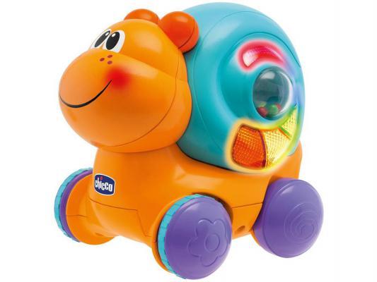 Интерактивная игрушка Chicco Улитка на колесиках Вперед, ребята! до 1 года разноцветный 69071 от 123.ru