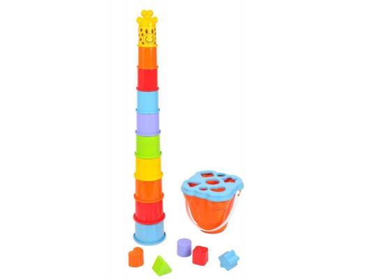Активный центр Playgo Пирамида-жираф развивающие игрушки playgo активный игровой центр пирамида сортер