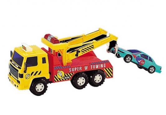 Эвакуатор Daesung Toys MAX с легковым авто желтый 1 шт 40 см машинка самосвал daesung toys max 953 1 1 шт 35 см зеленый