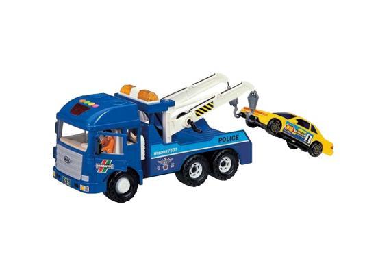 Эвакуатор Daesung Toys MAX синий 1 шт 38 см 954-1 машинка самосвал daesung toys max 953 1 1 шт 35 см зеленый