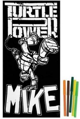 Купить Бархатная раскраска Kuso Черепашки - ниндзя Майки 10052