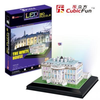Пазл 3D CubicFun Белый дом с иллюминацией (США) 56 элементов L504h пазл 3d cubicfun небоскреб эмпайр стейт билдинг сша 39 элементов c704h