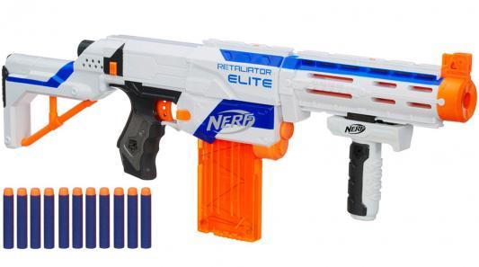 Бластер Hasbro Nerf Элит Риталиэйтор белый для мальчика 98696 бластер hasbro nerf элит риталиэйтор белый для мальчика 98696