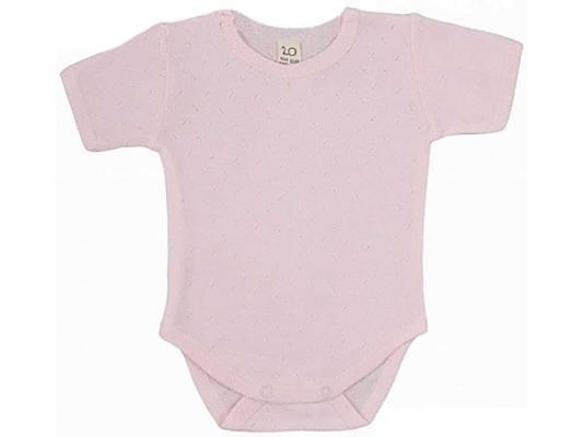 Купить Боди футболка Lucky Child ажур, розовая. размер 20 (62-68), Хлопок, Для девочек, Боди для новорожденных
