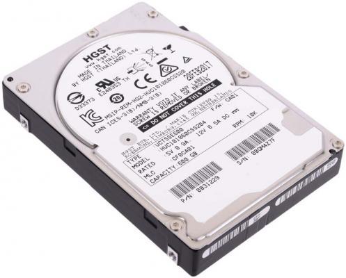 "Жесткий диск 2.5"" 600Gb 10520rpm HGST Ultrastar C10K1800 SAS HUC101860CSS204 0B31229"