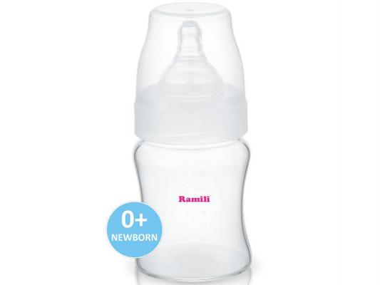 Бутылочка для кормления Ramili Baby AB2100 противоколиковая прозрачный 210 мл с рождения