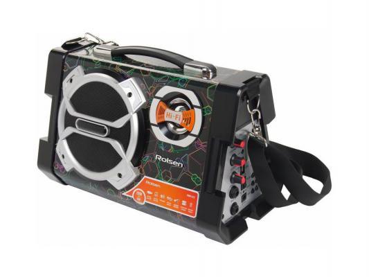 Микросистема Rolsen RBM-312-CUBE 25Вт черный
