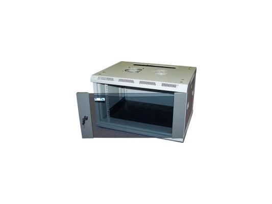 Шкаф настенный 15U Lanmaster TWT-CBWL-15U-6X4 600x450mm стеклянная дверь