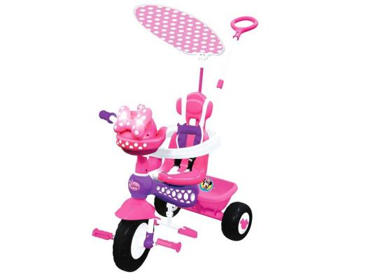 Велосипед Kiddieland Минни Маус с ручкой розовый KID 048983