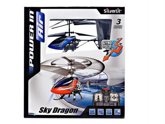 Вертолёт на радиоуправлении Silverlit Вертолет 3-х канальный с гироскопом и металлическим корпусом пластик от 7 лет красный 84512