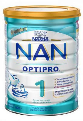 Заменитель Nestle NAN OPTIPRO 1 Premium с рождения 800 гр.