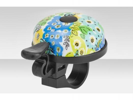 Купить Звонок 16R-06 Цветы Rich toys (черно-голубой), Аксессуары RT, Аксессуары для детских велосипедов