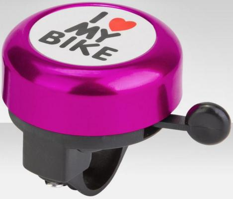 Звонок RichToys I love my bike 45AE-04 фиолетовый от 123.ru